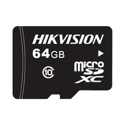 Memoria Hikvision Micro SD, Clase 10 de 64 GB, Especializada Para Videovigilancia, Modelo: HS-TF-L2/64G/P