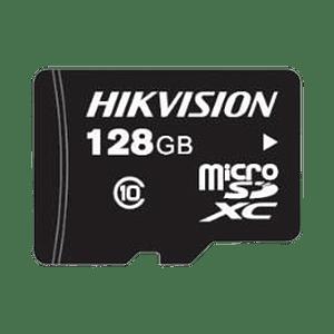Memoria Hikvision Micro SD, Clase 10 de 128 GB, Especializada Para Videovigilancia, Modelo: HS-TF-L2/128G/P