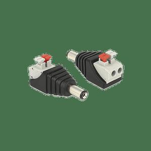Adaptador tipo Jack, 3.5 mm Macho Polarizado, 12 vcd, Terminales de Presión, Modelo: JR52X