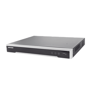 NVR Hikvision 8 Megapixeles (4K), 8 canales IP, 8 Puertos PoE+, 2 Bahías de Disco Duro, Switch PoE 300 mts, Modelo: DS-7608NI-K2/8P