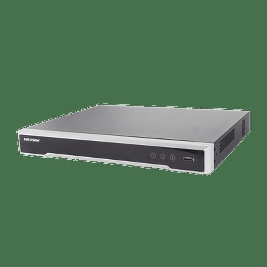 NVR Hikvision 8 Megapixeles (4K), 8 canales IP, 8 Puertos PoE+, 2 Bahías de Disco Duro, Switch PoE 300 mts, Modelo: DS-7608NI-K2/8P - Image 1