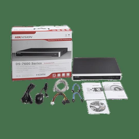 NVR Hikvision 8 Megapixeles (4K), 8 canales IP, 8 Puertos PoE+, 2 Bahías de Disco Duro, Switch PoE 300 mts, Modelo: DS-7608NI-K2/8P - Image 3