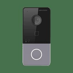 Videoportero Hikvision, Wi-Fi, IP, 2 Megapixeles,  PoE Estandar, IP6, Compatible con Hik-connect, Modelo: DS-KV6113-WPE1(B)