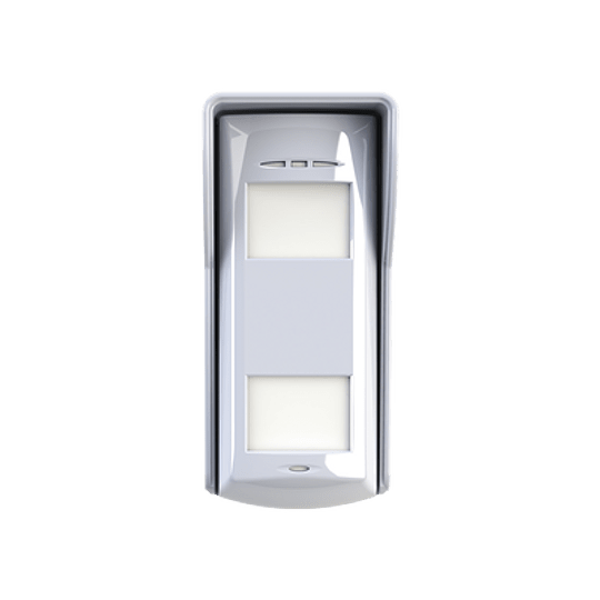 Detector PIR Dual-Tech, Inalámbrico Para Uso en Exterior Compatible con Alarmas Hikvision, Modelo: DS-PD2-T12P-WEL