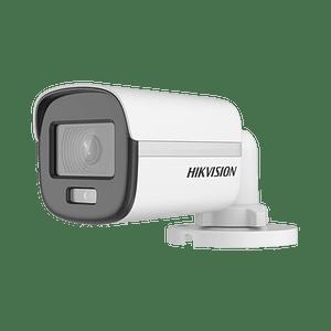 Camara Hikvision Bala TurboHD 2 Megapíxeles, Imagen a color 24/7, Lente 2.8 mm, Metalica, IR 20 mts, IP67, Modelo:DS-2CE10DF0T-F