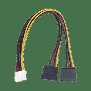 Cable Doble de Corriente SATA Compatible con DVR's Hikvision y HikLook, Modelo: 101-502-385