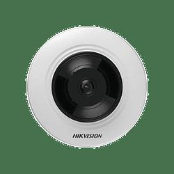 Camara Mini Fisheye 3 Megapixeles, Panorámica, 8 mts IR, Modelo: DS-2CD2935FWD-I