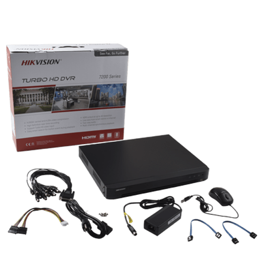 DVR 4 Megapixel 16 Canales TURBOHD + 8 Canales IP Modelo: DS-7216HQHI-K1 - Image 2