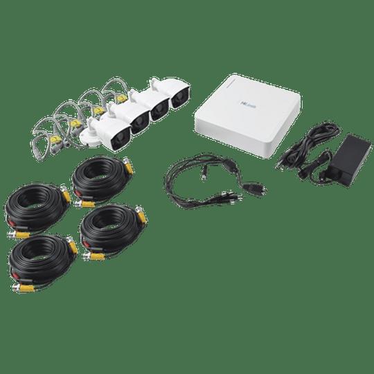 DVR 4 canales TurboHD 720p + 4 Cámaras Bala de Metal  Modelo:  KIT7204BM - Image 2