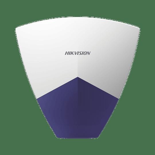 Sirena Inalámbrica con Estrobo para Exterior para  Panel de Alarma Hikvision, 110 dB, Modelo: DS-PSG-WO - Image 1