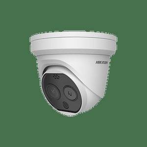 Camara Turret IP, Térmica 3.1 mm (320X 240), Óptico 4 mm, 15 mts IR, IP66, PoE, Termométrica, Detección de Temperatura -20ºC a 50ºC. Modelo: DS-2TD1217B-3/PA