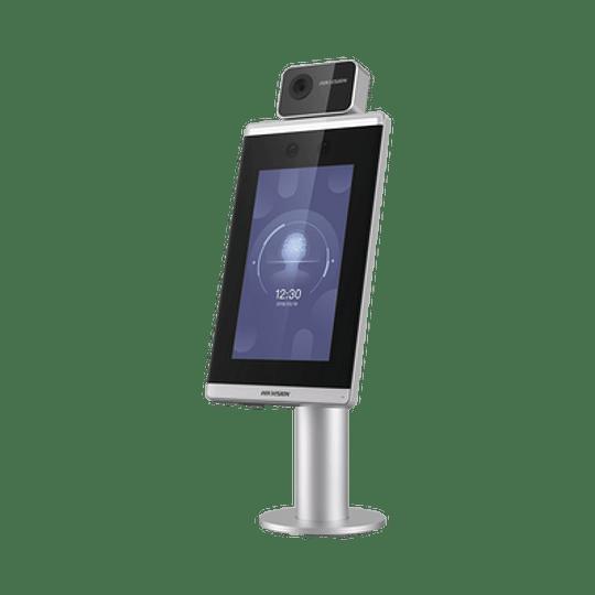 Biométrico de Reconocimiento Facial, WiFi, Detección de Temperatura Corporal  0°C a 50°C, Modelo: DS-K56713-XF/ZU