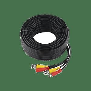 Cable Coaxial Armado con Conector BNC y Alimentación, Longitud de 20 mts, Modelo: DIY-20M-HD-HIK