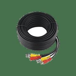 Cable Coaxial Armado con Conector BNC y Alimentación, Longitud de 30 mts, Modelo: DIY-30M-HD-HIK