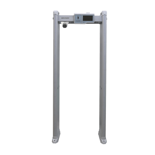 Arco Detector de Metal con Medición de Temperatura Corporal Hikvision, Modelo: ISD-SMG318LT-F
