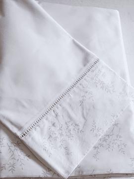 Juego de sábana Pima cotton estampado Olivos