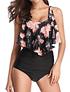 Bikini tiro alto Valhalla Black Floral