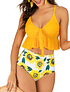 Bikini tiro alto Top Ruffle Yellow