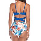 Bikini tiro alto azul rey floral