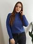 Sweater grueso cuello alto mujer