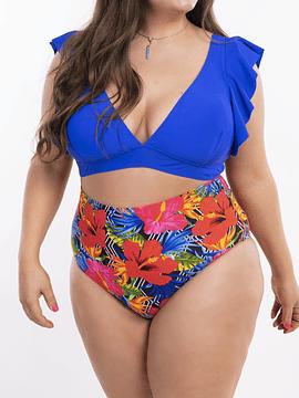 Bikini tiro alto Milena Azul