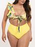 Bikini tiro alto Cancún Amarillo