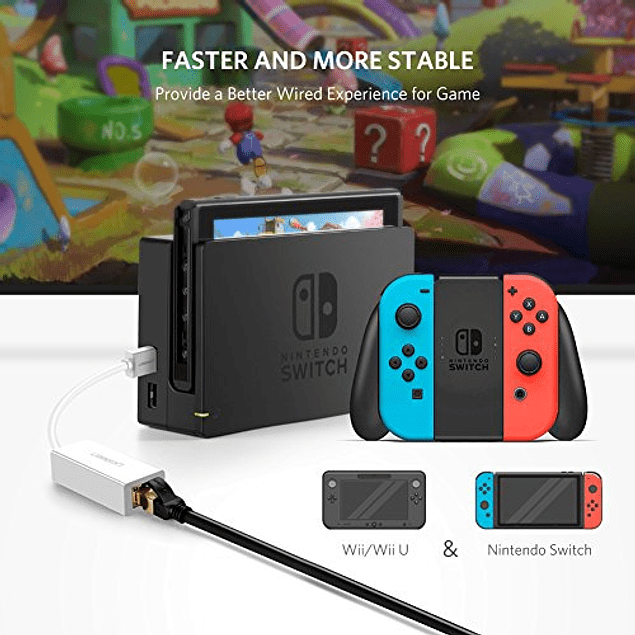 Adaptador de Red LAN - Nintendo Switch