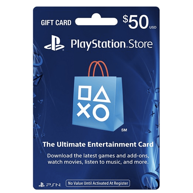 PLAYSTATION NETWORK CARD $50 DÓLARES