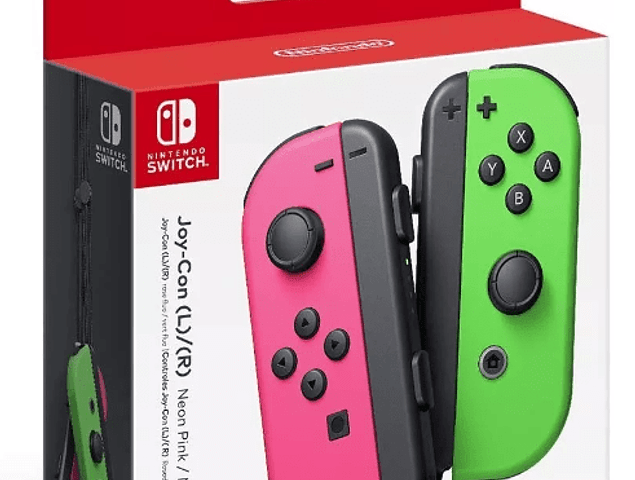Joy-Con Verde / Rosado Splatoon