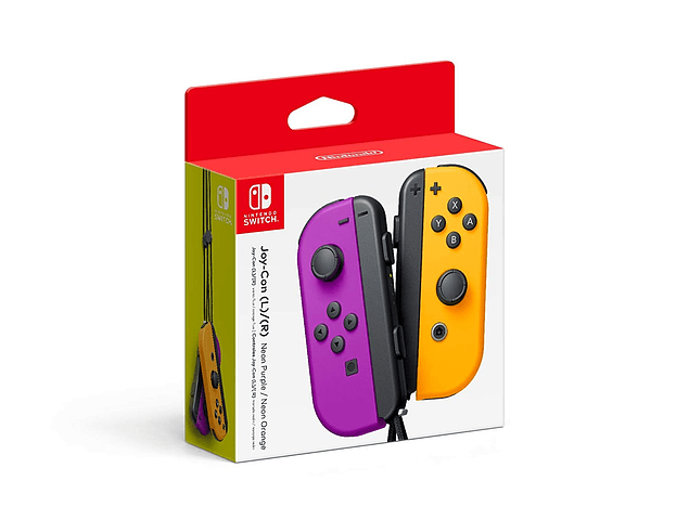 Joy Con Neon Purple / Orange