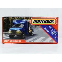 GMC School Bus - Matchbox Power Grabs 2018 Mix 3   1/64