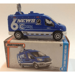 Camioneta FORD TRANSIT NEWS VAN 14 - Matchbox Power Grabs 1/64