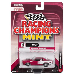 Racing Champions 1971 Plymouth Barracuda Moulin Rouge/Red 1/64