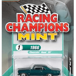 Racing Champions 1966 Chevrolet Nova SS Tropic Turquoise 1/64