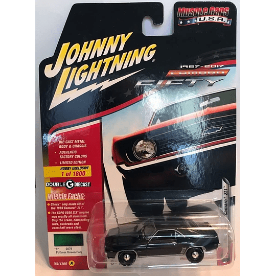 Johnny Lightning 1969 Chevy Camaro ZL1 1 /64