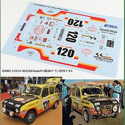 1/24  Set  calcomanias para  Renault 4 L Rally Oasis 1979 paris Dakar