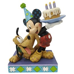 Figura Colección Pluto & Mickey Birthday Enesco
