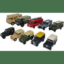 Carros Colección British Military 10-Piece Land 1/76 Oxford