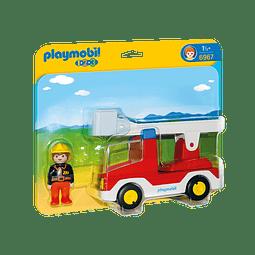 Playmobil 1.2.3 Camión De Bombero