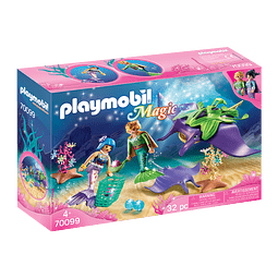 Playmobil Recolectores De Perlas Con Manta Raya