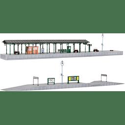 Plataforma de abordaje para estacion de tren de Osterburken 1/160 (N)