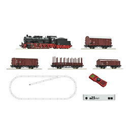 "Z Digital Set Z21: Steam Locomotora de ""vapor"" con tren de mercancias"