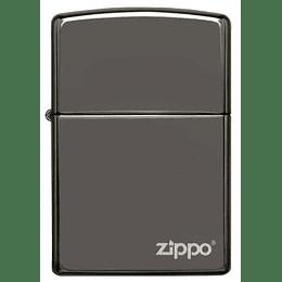 Encendedor Zippo Negro metalizado con logo