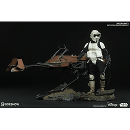 1/6 Scout Trooper Con Moto Speeder Star Wars