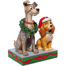 Lady And The Tramp Christmas Statue