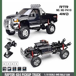 Camioneta RC Raptor 4x4 pickup truck 2.4 GHz Escala 1/10