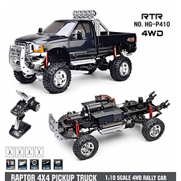 Camioneta RC Raptor 4x4 pickup truck 2.4 GHz Escala 1/10