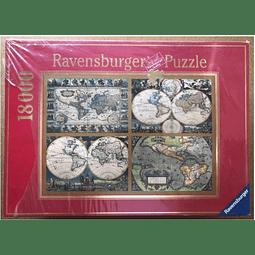 Rompecabezas RAVENSBURGER Mapamundi histórico antiguo