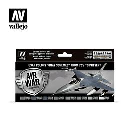 Model Air Set: Usaf Colors Grey Sch