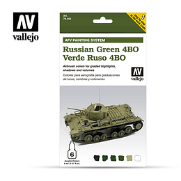 Set Verde Ruso 4Bo Painting S. 6X8M